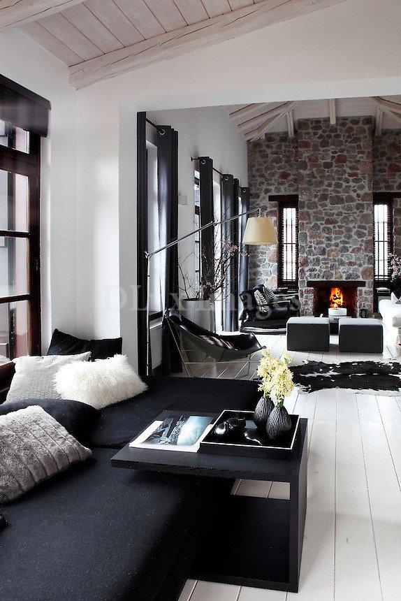 Elegant Contemporary Living Room New House Of Karavas Arahova Greece Dlux
