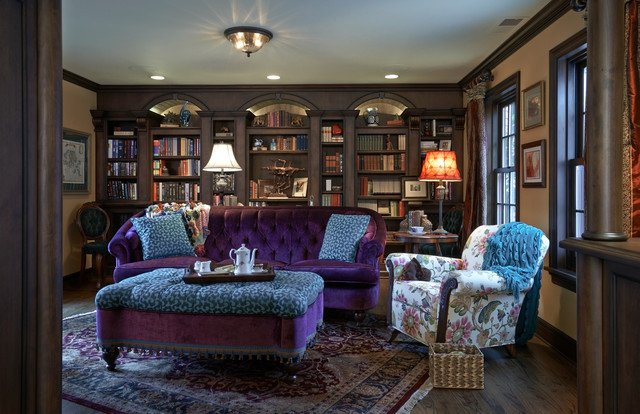 English Traditional Living Room Best Of Old English Library Traditional Living Room Portland by Rockwood Cabinetry