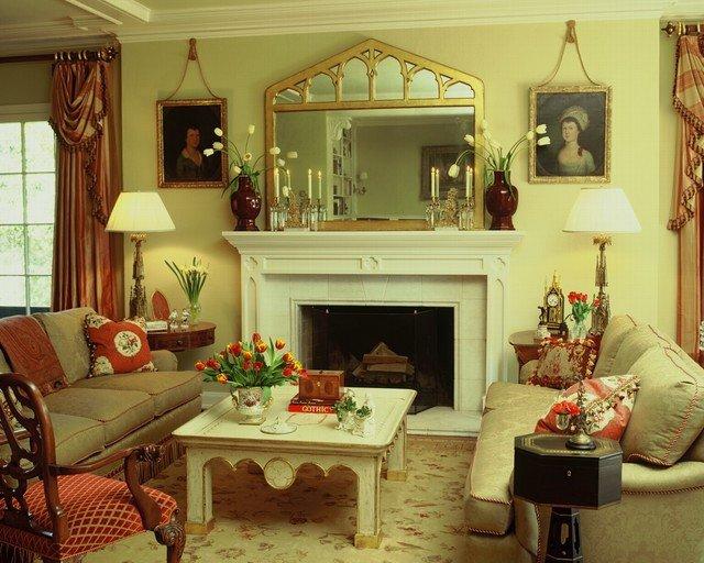 English Traditional Living Room New English Style Estate Traditional Living Room Los Angeles by White Webb