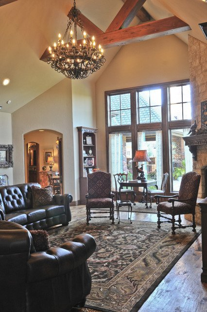 English Traditional Living Room New English Tudor Traditional Living Room Oklahoma City by Brent Gibson Classic Home Design