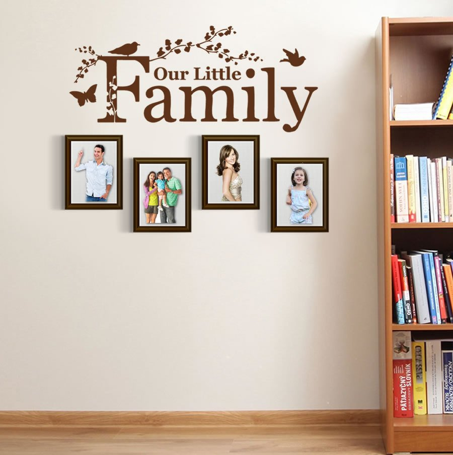 Family Room Wall Decor Ideas Elegant Dsu Our Little Family Wall Sticker Home Decor Bedroom Living Room Wall Decals Nursery Girl Boy