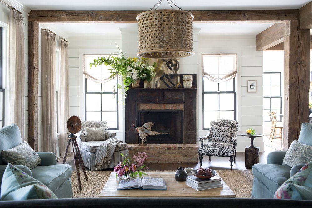 Farmhouse Contemporary Living Room Beautiful Modern Farmhouse — Cloth & Kind