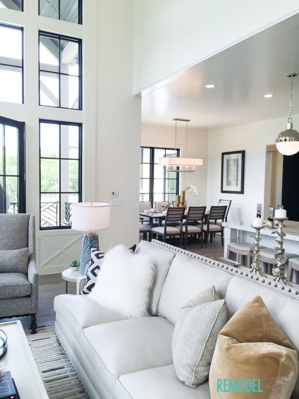 Farmhouse Contemporary Living Room Luxury Remodelaholic