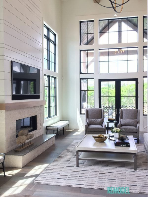 Farmhouse Contemporary Living Room New Remodelaholic