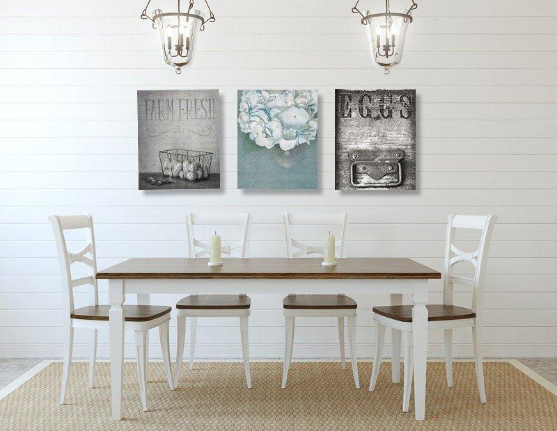 Farmhouse Dining Room Wall Decor Inspirational Dining Room Wall Art Farmhouse Wall Decor Set Of Three