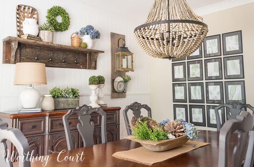 Farmhouse Dining Room Wall Decor Luxury Farmhouse Dining Room Makeover Reveal before and after