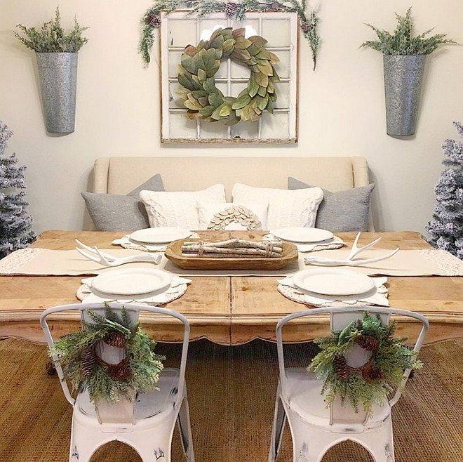 Farmhouse Dining Room Wall Decor New Christmas & Interior Decorating Ideas Home Bunch Interior Design Ideas