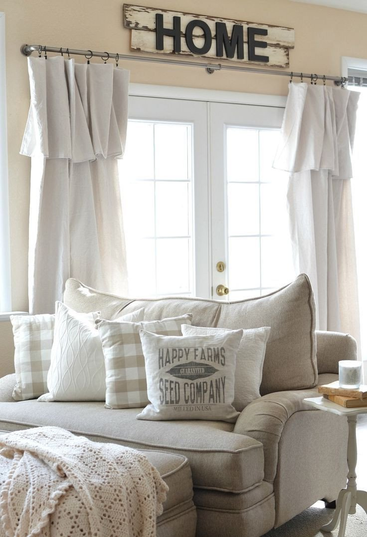 Farmhouse Living Room Curtains Decor Ideas Fresh 17 Best Ideas About Farmhouse Living Rooms On Pinterest