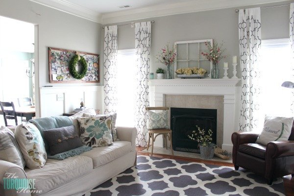 Farmhouse Living Room Curtains Decor Ideas Fresh Farmhouse Fresh Spring Mantel