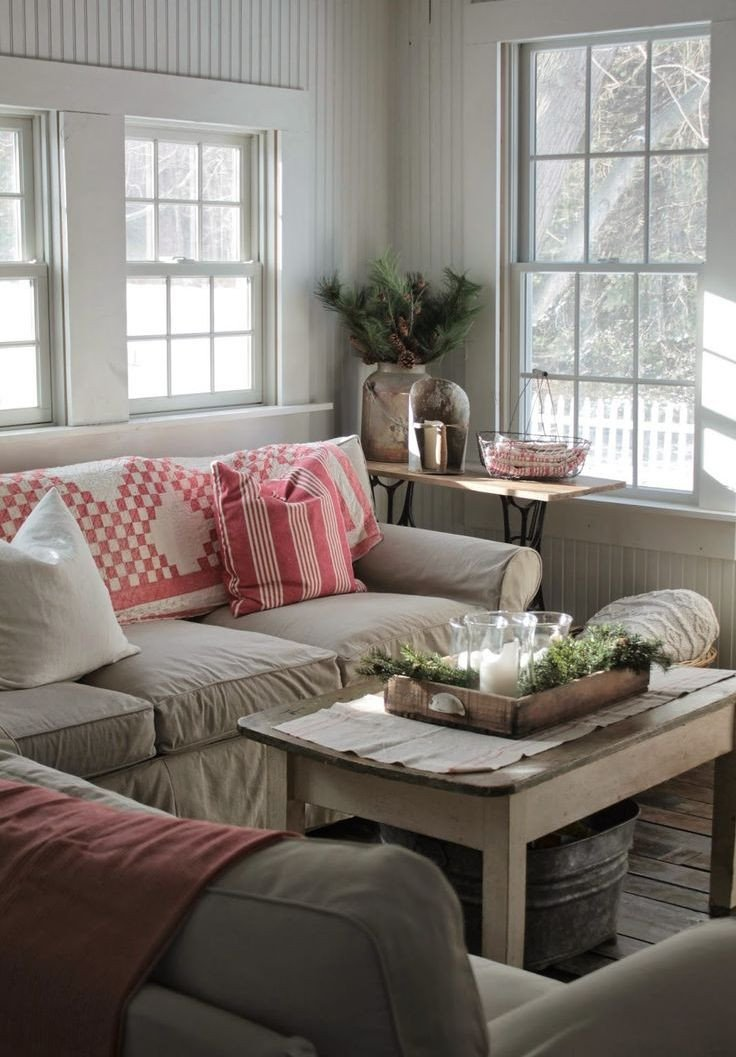 Farmhouse Living Room Decorating Ideas Lovely source Pinterest