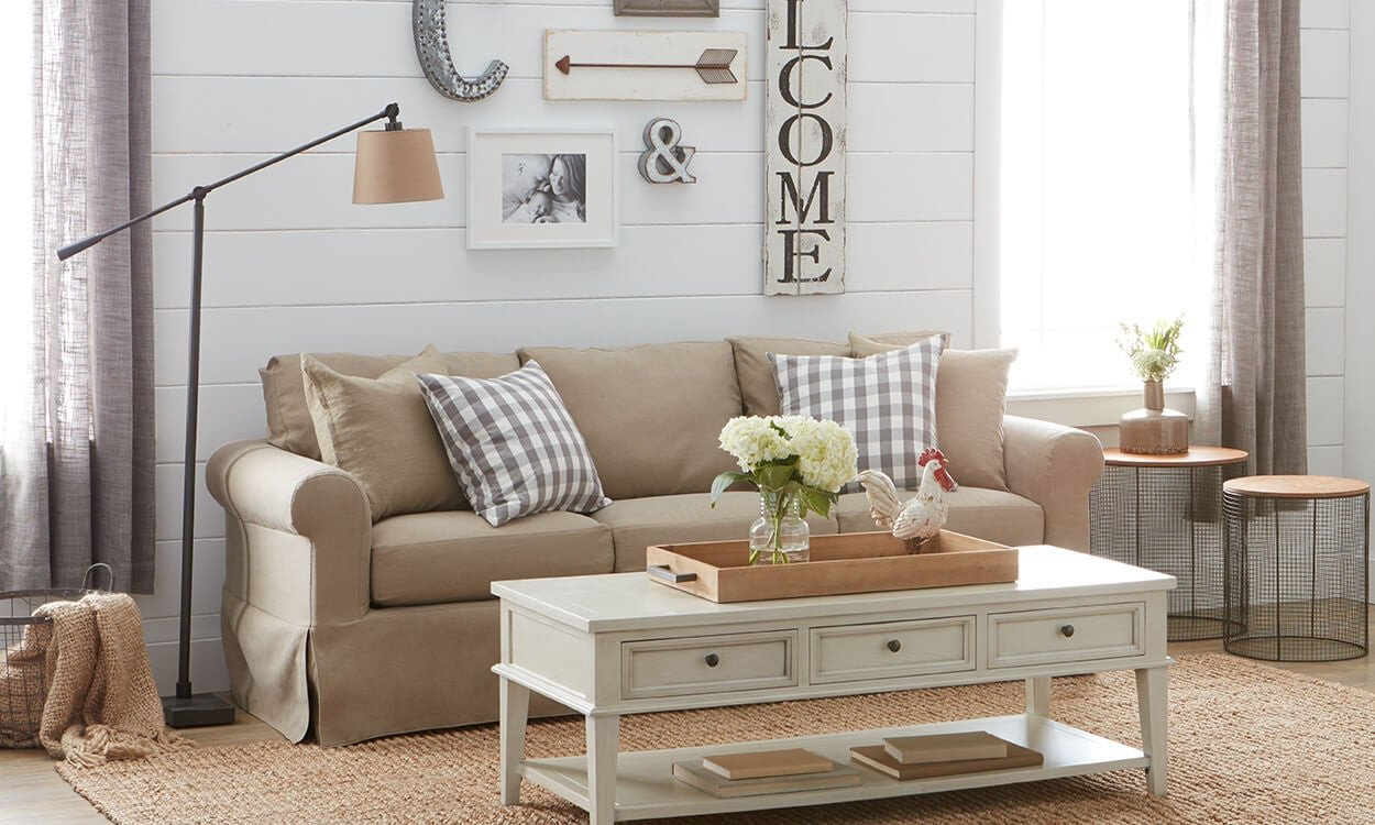 Farmhouse Living Room Decorating Ideas New Charming Farmhouse Decorating Ideas Overstock