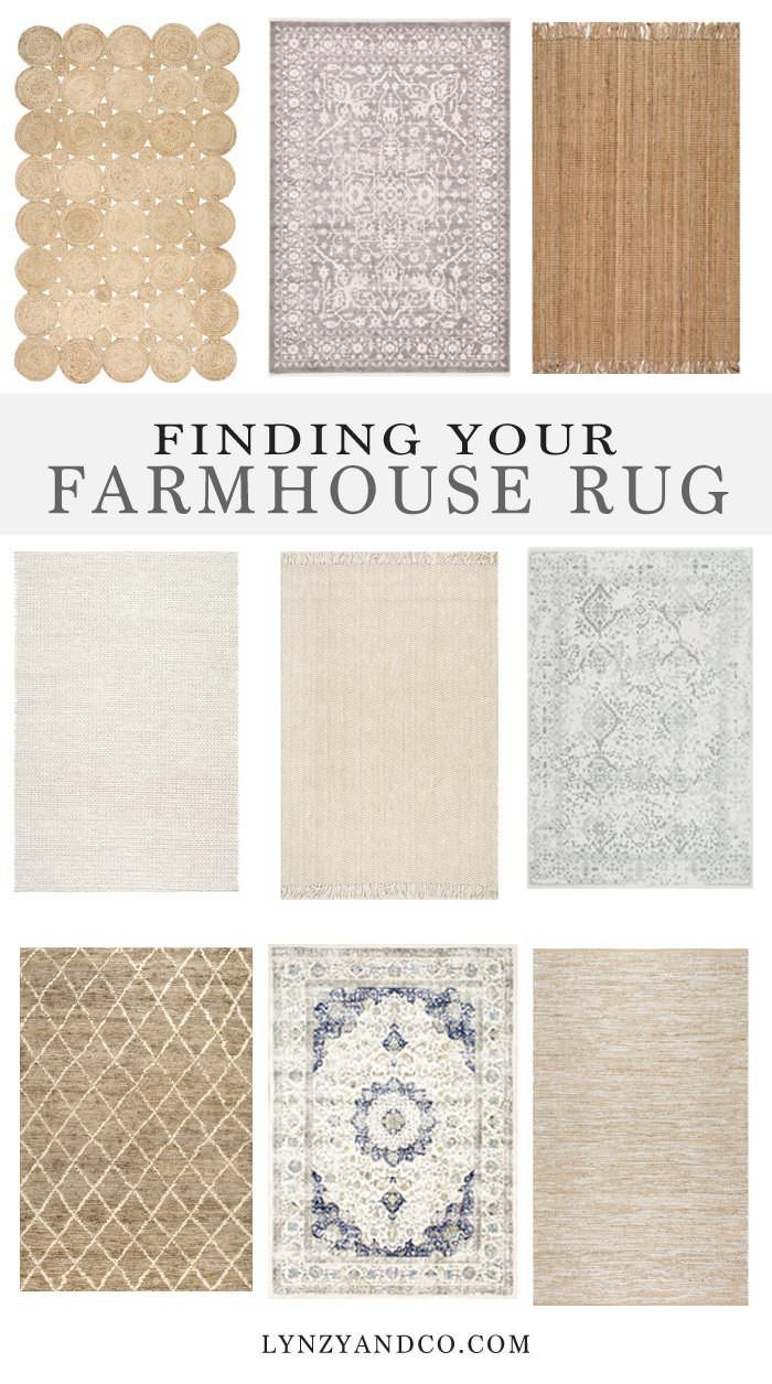 Farmhouse Living Room with Rug Awesome Finding the Perfect Farmhouse Rug Lynzy & Co