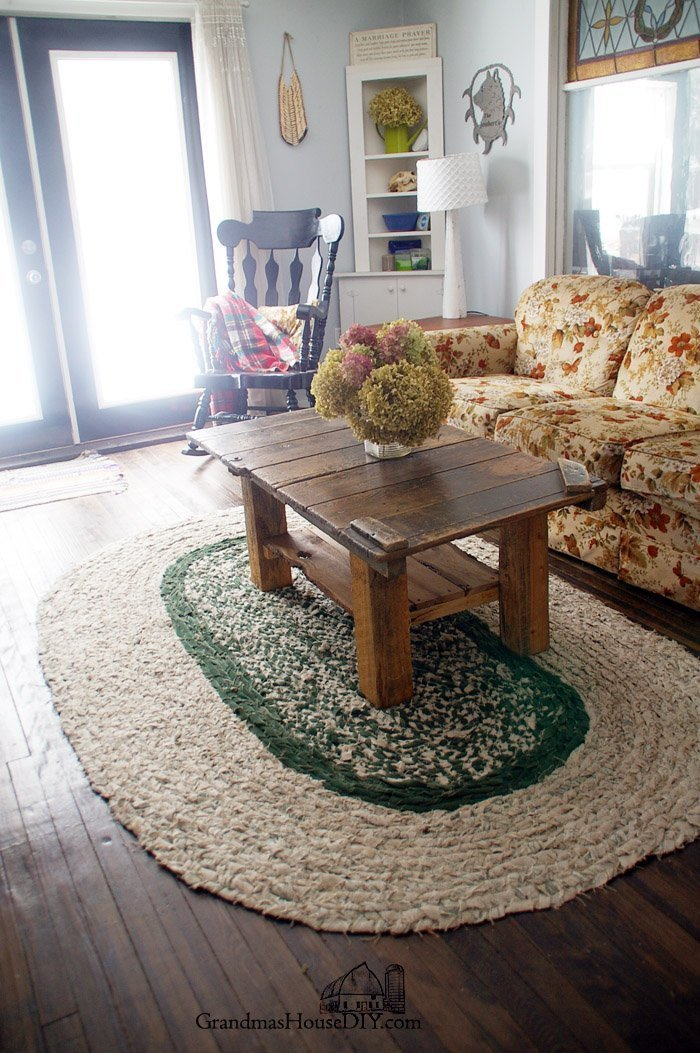 Farmhouse Living Room with Rug Elegant How to Braid Your Own Large Rag area Rug Grandmas House Diy