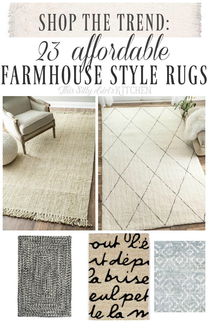Farmhouse Living Room with Rug Elegant Shop the Trend 23 Affordable Farmhouse Style Rugs This Silly Girl S Kitchen