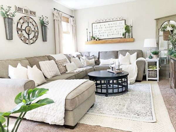Farmhouse Living Room with Rug Lovely Home Décor Archives Lolly Jane