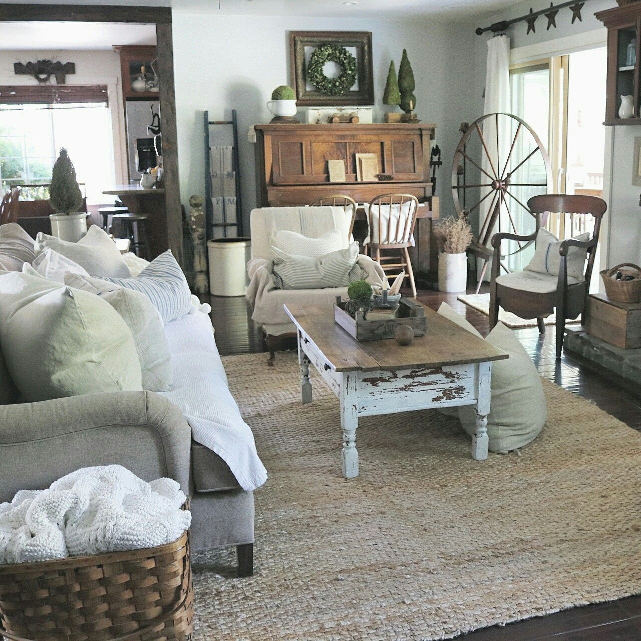 Farmhouse Living Room with Rug New Farmhouse Living Room at Home On Sweetcreek Decoration for the Piano