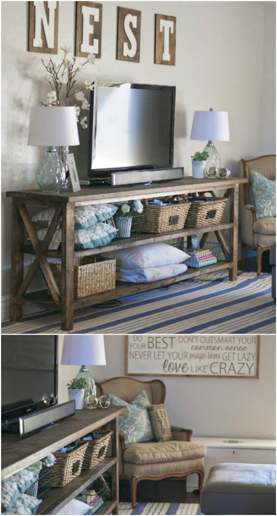 Farmhouse Tv Stand Design Ideas and Decor Beautiful Give Your Media Center A Diy Makeover with these 10 Creative Projects Diy & Crafts