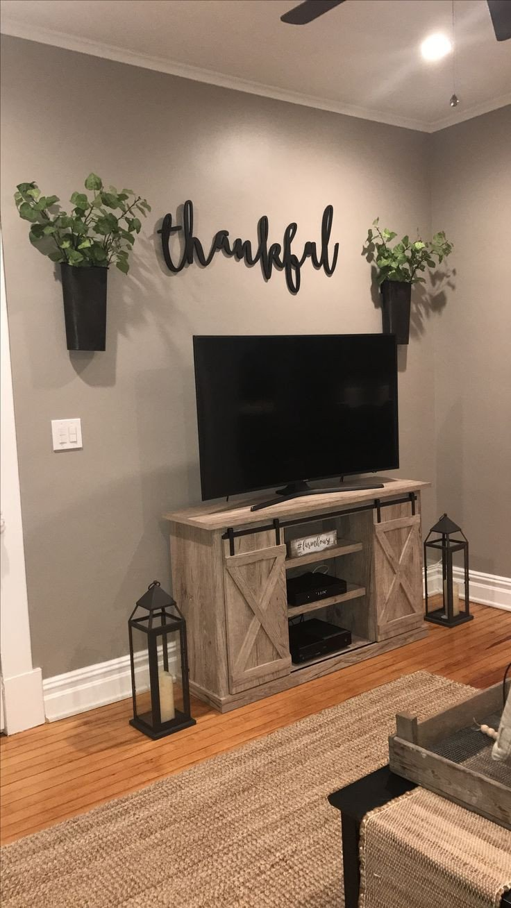 Farmhouse Tv Stand Design Ideas and Decor Best Of Feather and Birch Thankful Sign Tv area Farmhouse Decor Magnolia Market Home