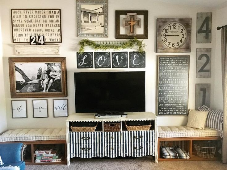 Farmhouse Tv Stand Design Ideas and Decor Elegant Best 25 Wall Behind Tv Ideas On Pinterest