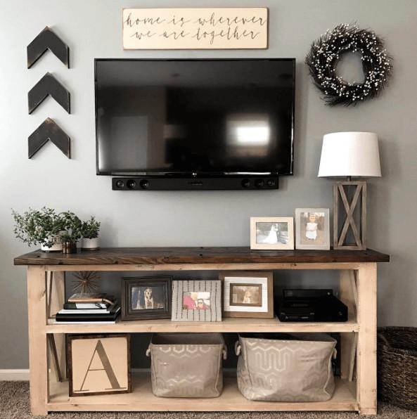 Farmhouse Tv Stand Design Ideas and Decor Elegant Farmhouse Console Table