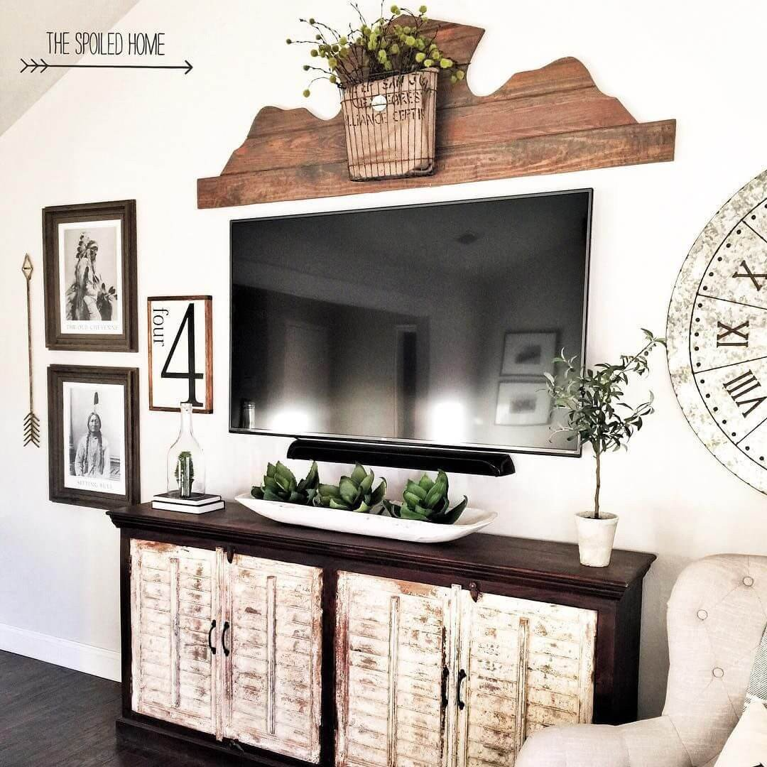 Farmhouse Tv Stand Design Ideas and Decor Fresh 33 Best Rustic Living Room Wall Decor Ideas and Designs for 2019