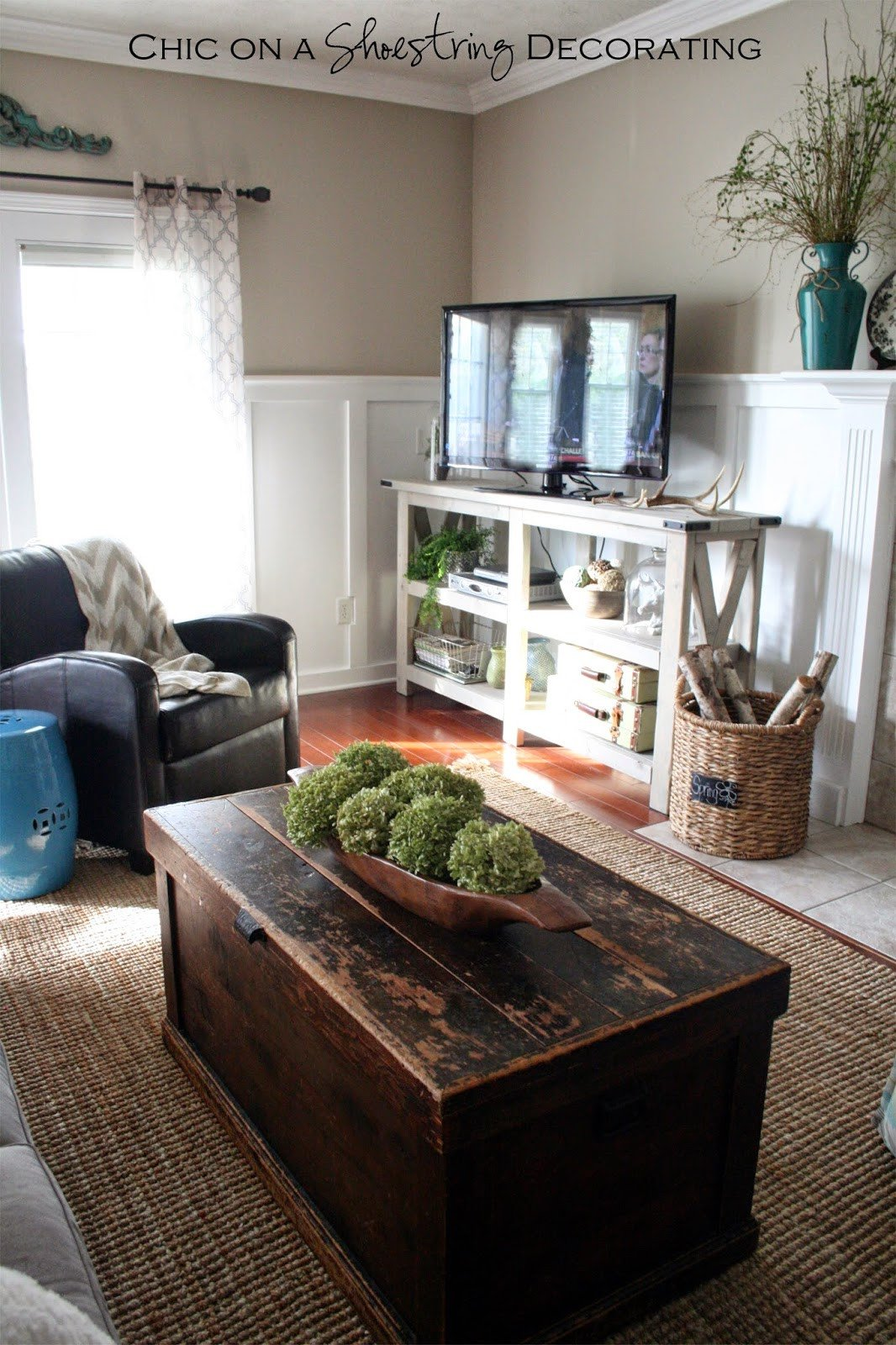 Farmhouse Tv Stand Design Ideas and Decor Lovely Chic On A Shoestring Decorating My Farmhouse Chic Living Room Reveal