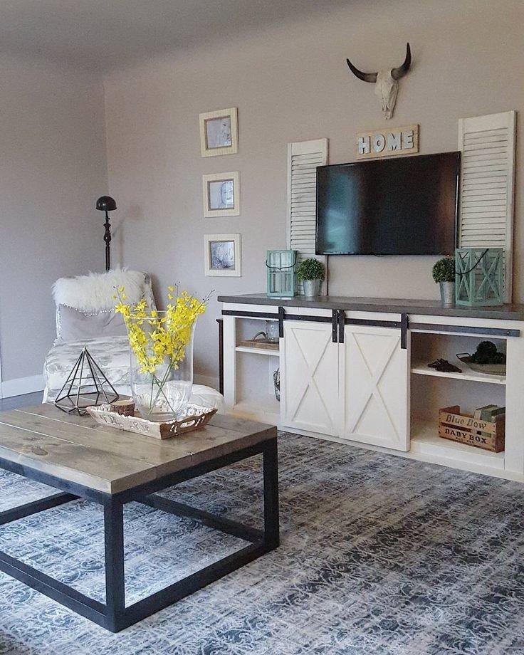 Farmhouse Tv Stand Design Ideas and Decor Luxury Farmhouse Industrial Country Living Room Diy Ana White Nikki Grandy