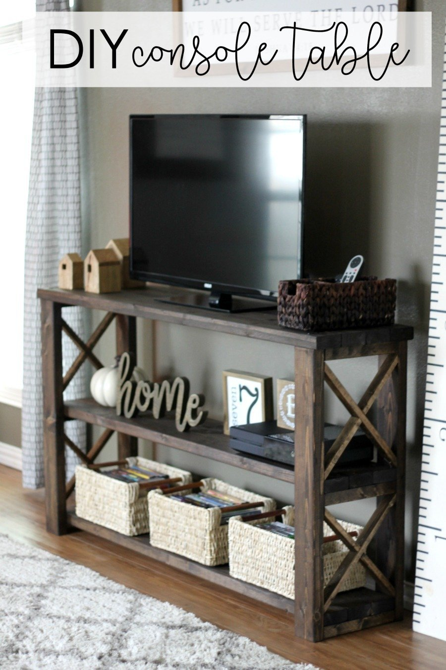 Farmhouse Tv Stand Design Ideas and Decor New How to Build A Diy Console Table for $50 or Less