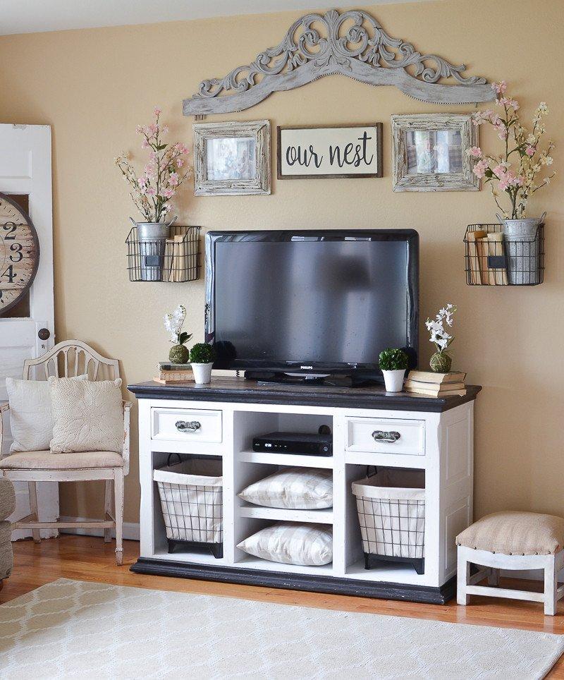Farmhouse Tv Stand Design Ideas and Decor Unique Easy Farmhouse Style Tv Stand Makeover Little Vintage Nest