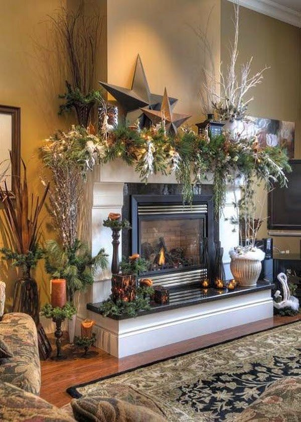 Fireplace Mantel Decor Ideas Home Awesome 18 Magical Christmas Mantelpiece Decorations