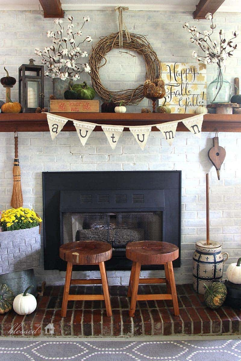 Fireplace Mantel Decor Ideas Home Beautiful 30 Amazing Fall Decorating Ideas for Your Fireplace Mantel