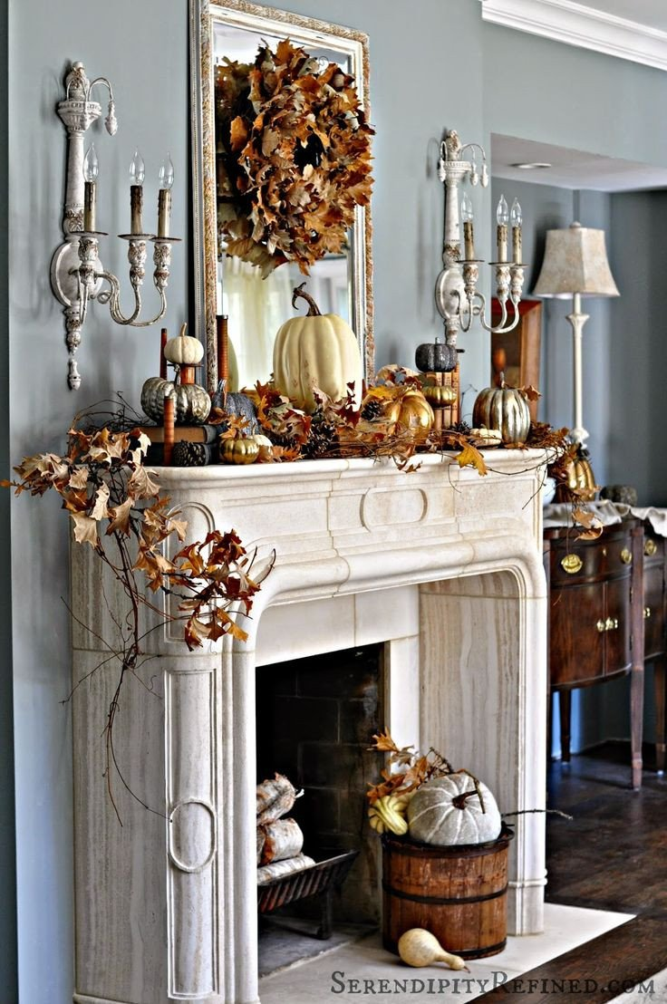 Fireplace Mantel Decor Ideas Home Lovely Fireplace Mantel Decor Ideas for Decorating for Thanksgiving