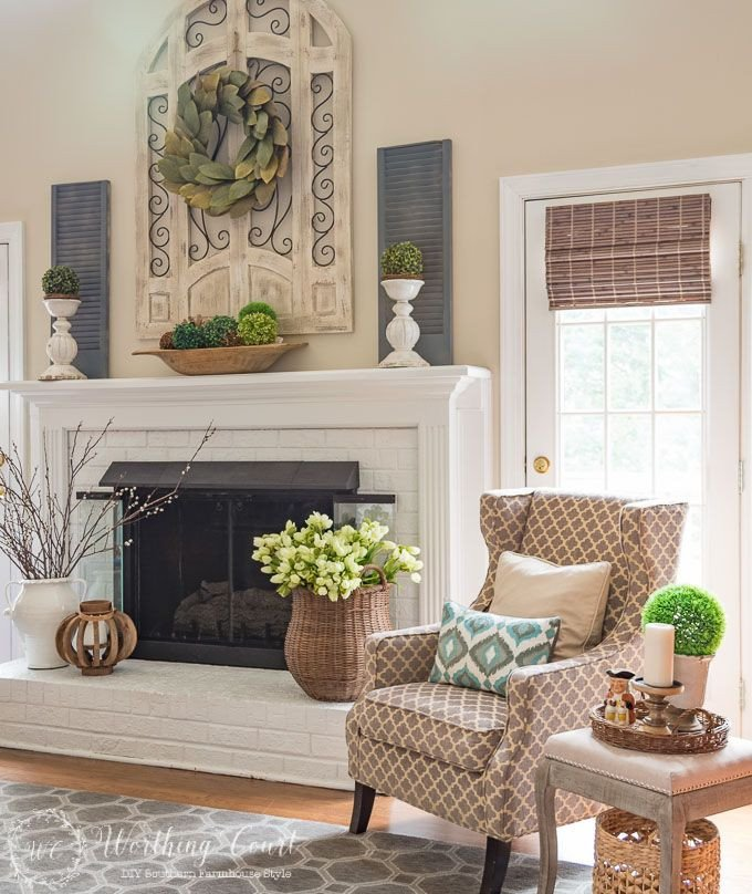 Fireplace Mantel Decor Ideas Home Unique My Spring Fireplace Mantel and Hearth Great Falls House