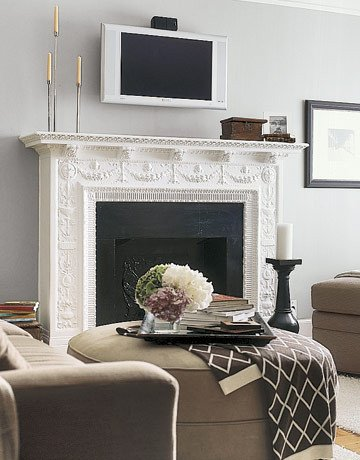 Fireplace Mantel Decor with Tv Elegant Decorating Around the Television the Decorologist