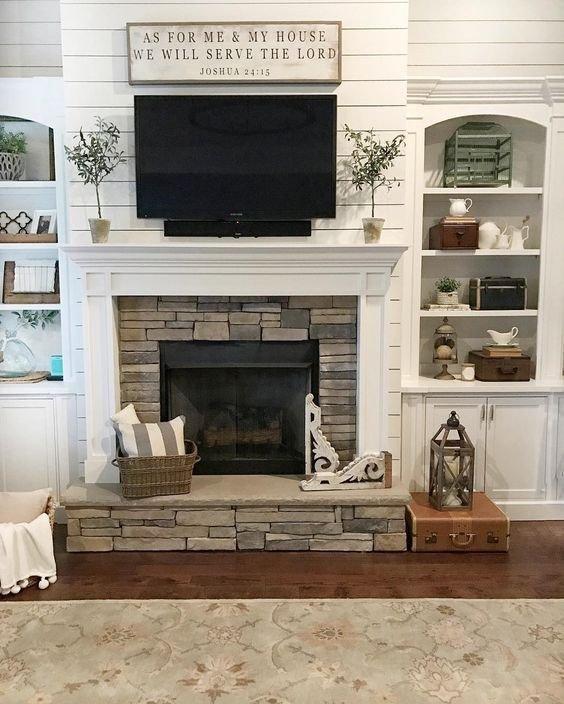 Fireplace Mantel Decor with Tv Elegant Remodelaholic