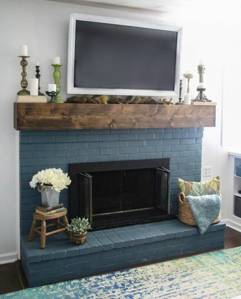 Fireplace Mantel Decor with Tv Elegant Simple Fall Mantel Decorating Around the Tv Lovely Etc