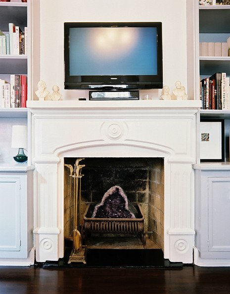 Fireplace Mantel Decor with Tv Elegant Tv Above the Fireplace — the Place Home