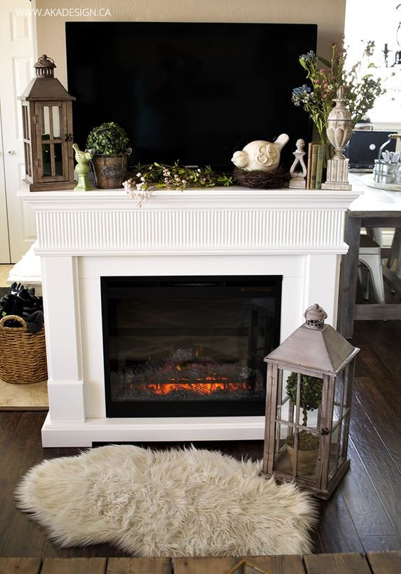 Fireplace Mantel Decor with Tv Lovely Home tours Fireplaces and Mantels On Pinterest