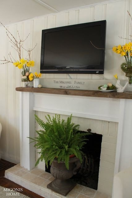 Fireplace Mantel Decor with Tv Lovely Remodelaholic