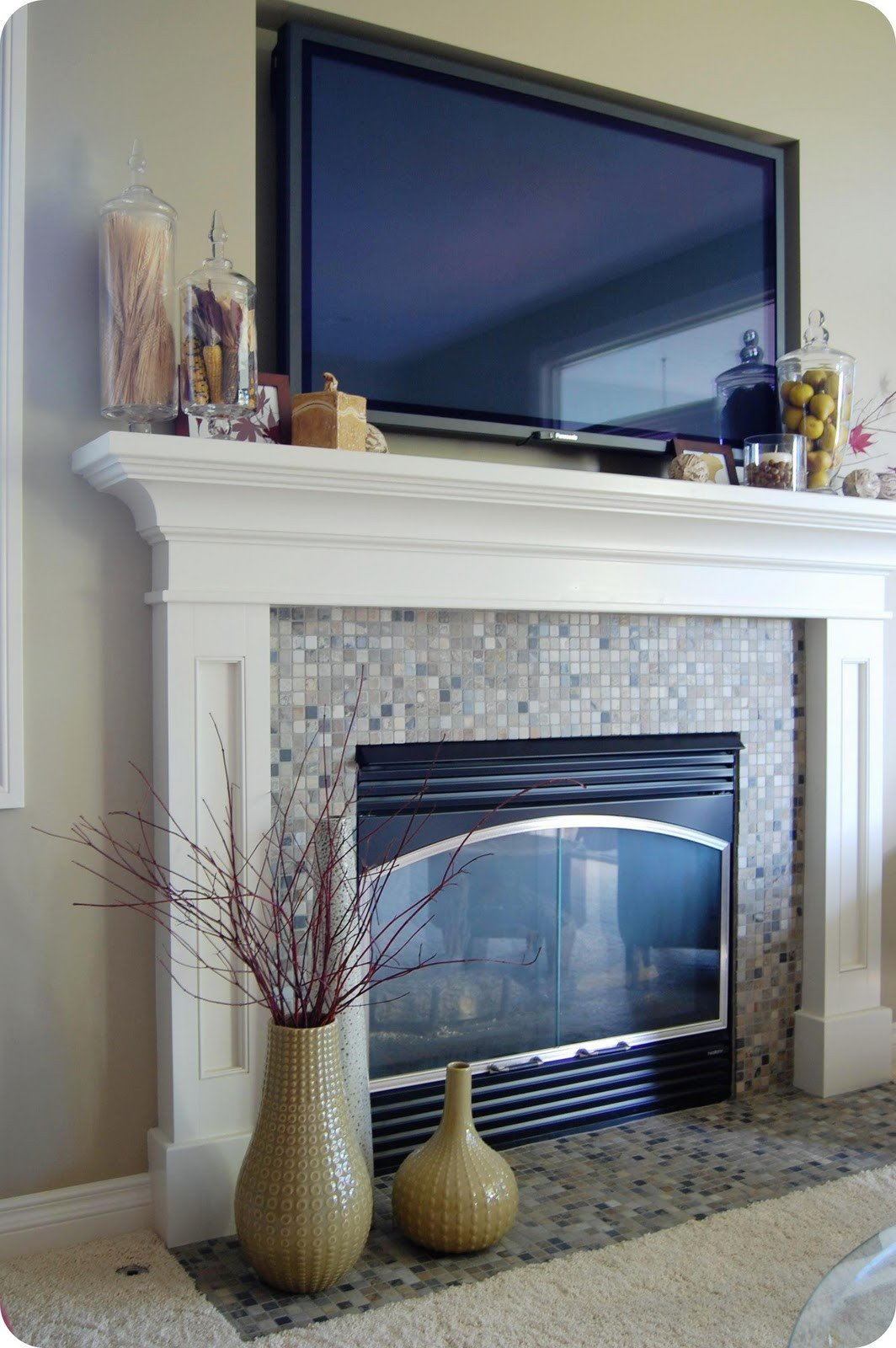 Fireplace Mantel Decor with Tv Luxury 33 Shades Of Green Decorating Around the Tv