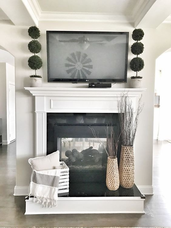 Fireplace Mantel Decor with Tv New Remodelaholic