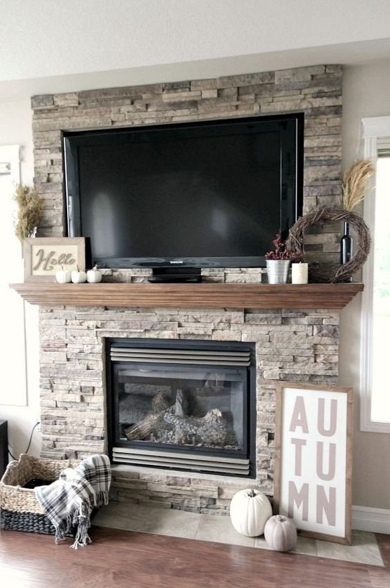 Fireplace Mantel Decor with Tv Unique Remodelaholic