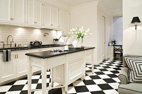 Floor and Decor Backsplash Tile Awesome Chceckered Tile Floor Transitional Kitchen Eva Quateman Interiors