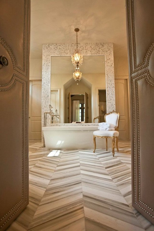 Floor and Decor Bathroom Tile Awesome Marble Herringbone Tile Floor Transitional Bathroom Dodson and Daughter Interior Design