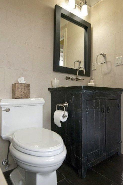 Distressed Vanity Cottage bathroom AMI Designs