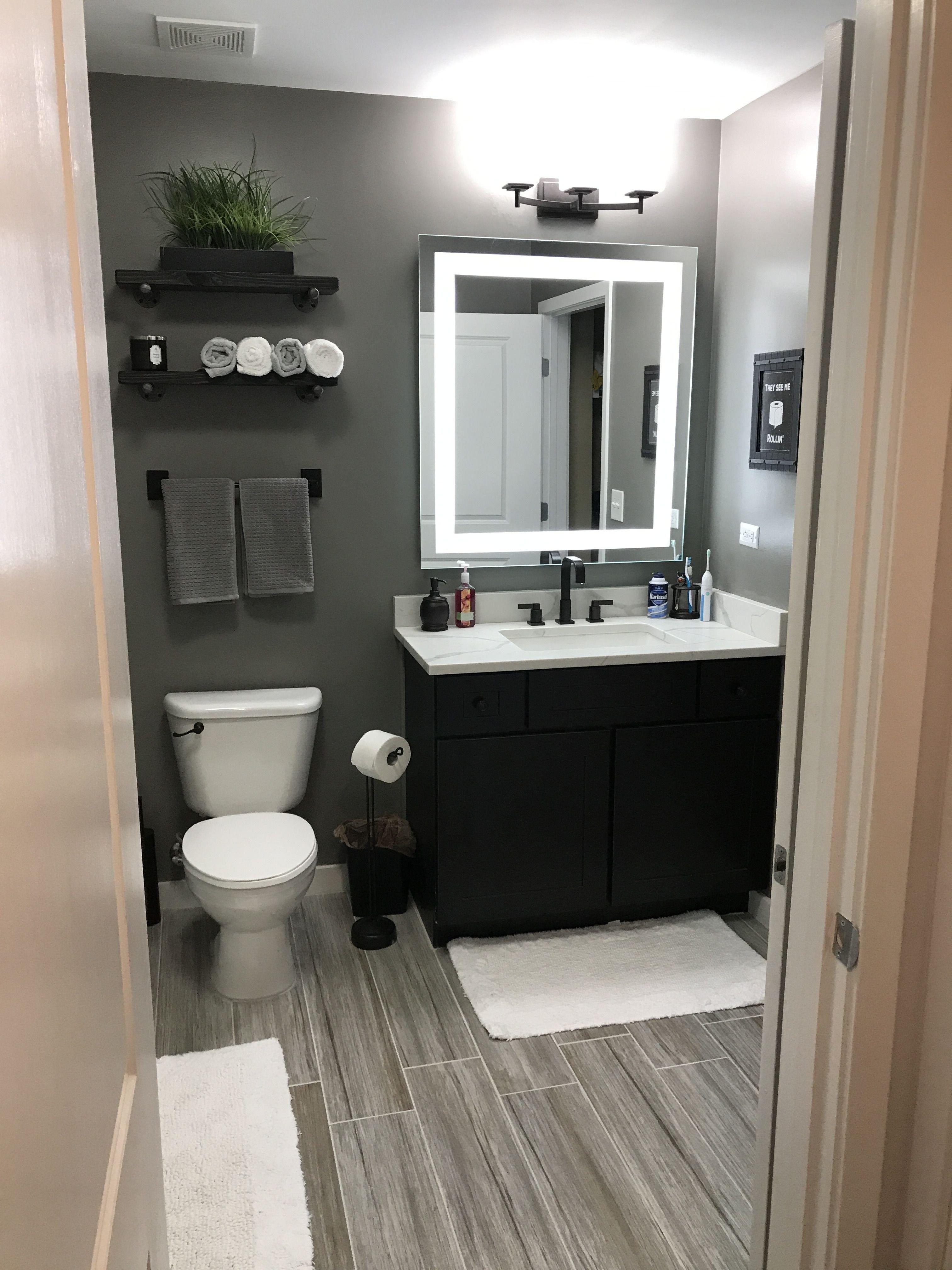 Floor and Decor Bathroom Vanities Beautiful Grey Bathroom Men S Bathroom Small Wood Floor Look Mirror Espresso Vanity Lighting