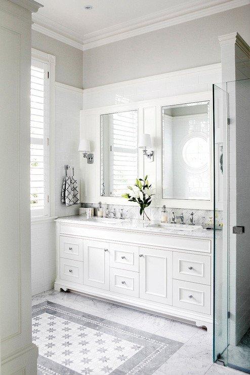 Floor and Decor Bathroom Vanities Fresh Marble Arabesque Tiles Contemporary Bathroom Terra Verre