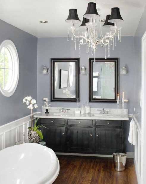 Floor and Decor Bathroom Vanities Inspirational Love the Gray and White with the Dark Wood and Black Vanity Accents Hardwood Floors In the