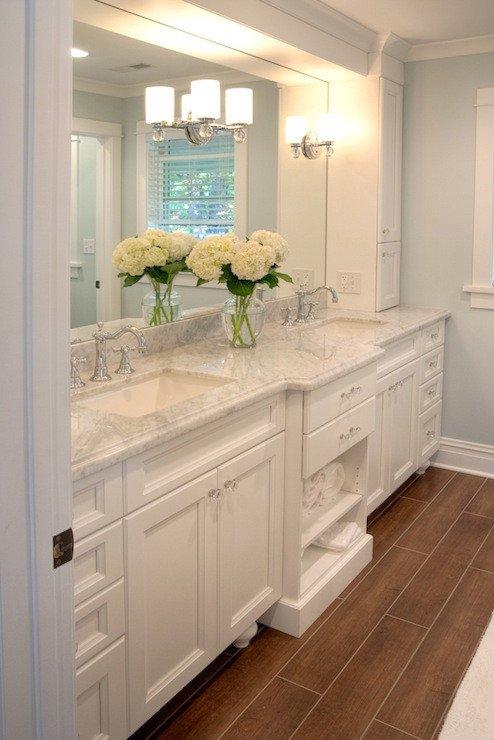 Floor and Decor Bathroom Vanities Unique White Carrera Marble Countertops Traditional Bathroom Lamantia