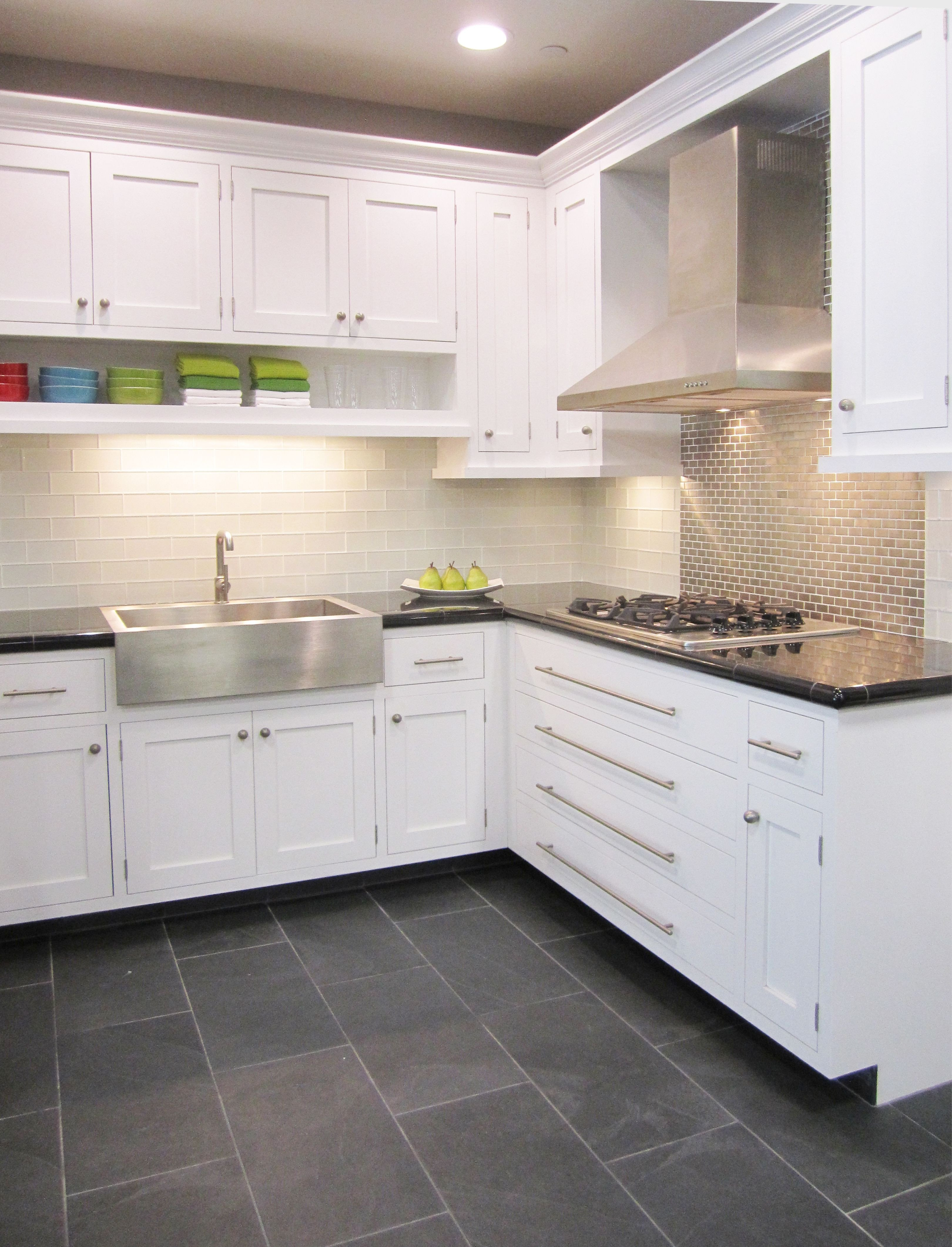 Floor and Decor Kitchen Backsplash Beautiful Frosted White Glass Subway with Stainless Steel thetileshop Kitchen Tile